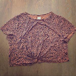 Leopard Print Crop with Twist H&M